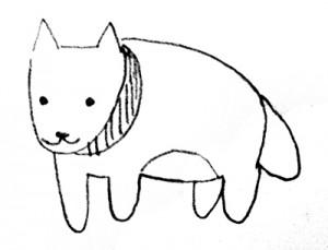 犬の絵の画像